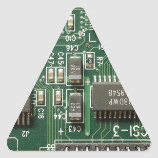 Circuit Board Design Triangle Sticker
