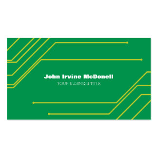 Circuit Board Electronic Computer Professional Business Card Templates