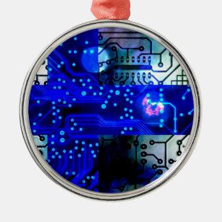 circuit board Finland Silver-Colored Round Decoration