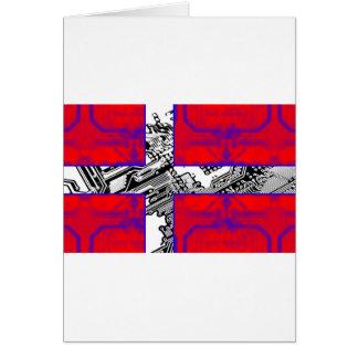 circuit board Flag (Denmark) Card