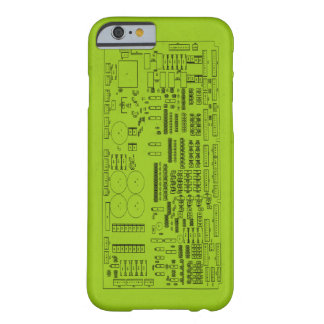 Circuit Board Green Barely There iPhone 6 Case