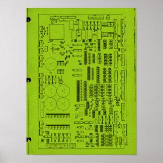 Circuit Board Green Poster