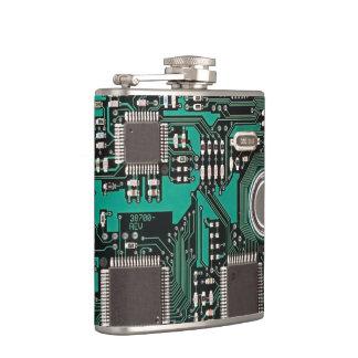 Circuit board hip flask