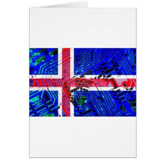 circuit board iceland (Flag) Card