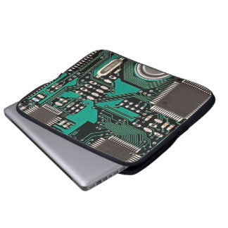 Circuit board laptop sleeve
