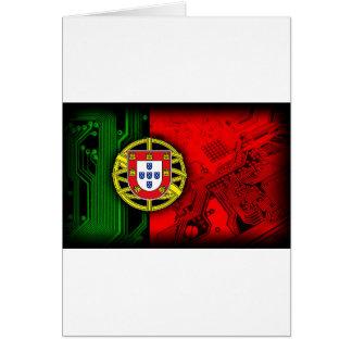 circuit board Portugal (Flag) Card