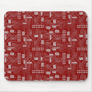 Circuit board red mousepad