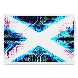 circuit board scotland (Flag) Card