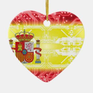 circuit board spain ceramic heart decoration