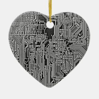 Circuit Ceramic Heart Decoration
