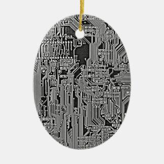 Circuit Ceramic Oval Decoration