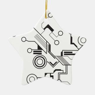 Circuit Ceramic Star Decoration