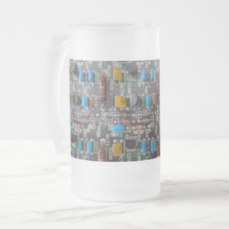 Circuit Frosted 16 oz Frosted Glass Mug