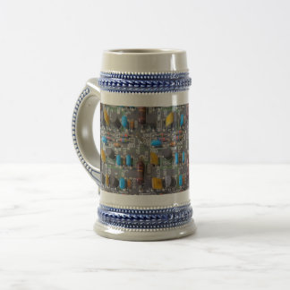 Circuit Gray /Blue 22 oz Stein