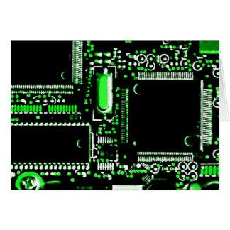 Circuit Green 2 greetings card