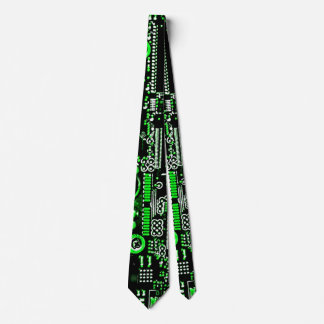 Circuit Green 2 tie double sided