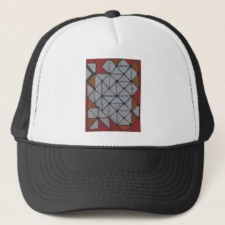 Circuit grid trucker hat
