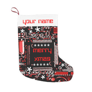 Circuit Red 2 Name stocking two sided