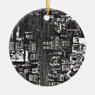 Circuit Round Ceramic Decoration