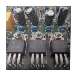 "Circuit Small (4.25"" x 4.25"") Ceramic Photo Tile"