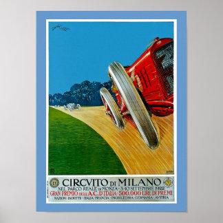 Circuito di Milano Poster