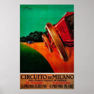 Circuito Di Milano Vintage PosterEurope Poster