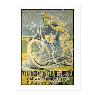 Circuito Motociclistico-1924 - distressed Postcard