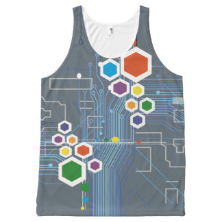 Circuitry All-Over Print Tank Top