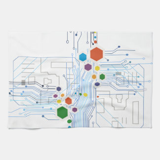 Circuitry Tea Towel