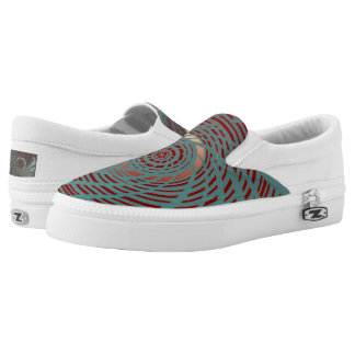 Circular Aqua,Pale Pink,Red Shoes Printed Shoes