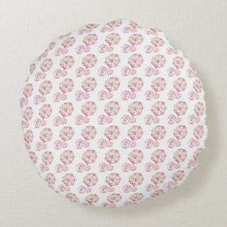 Circular Autumn Flower Pillow