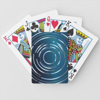 Circular Background Bicycle Playing Cards