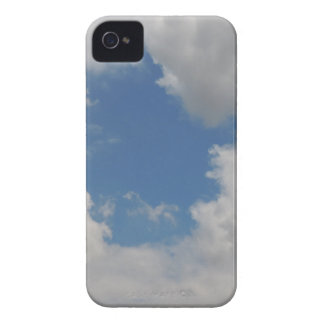 Circular blue hole in the clouds iPhone 4 Case-Mate case