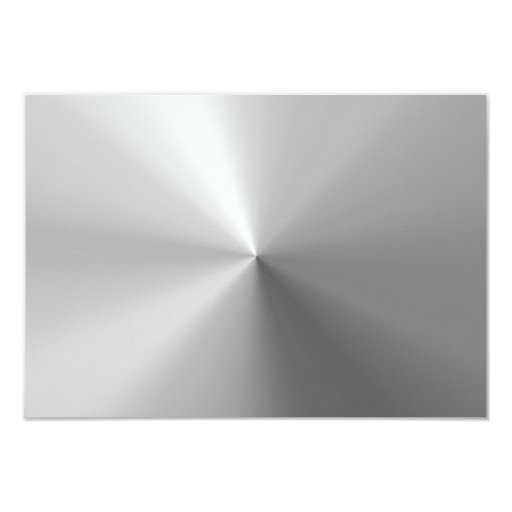 Circular Brushed Aluminium Textured 9 Cm X 13 Cm Invitation Card