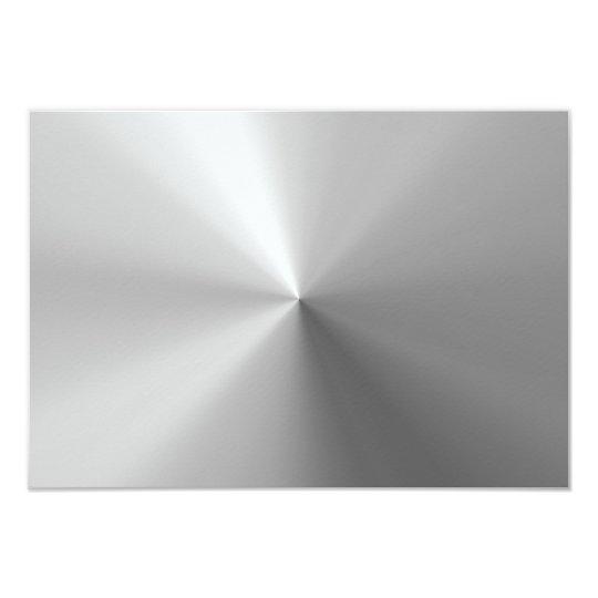 Circular Brushed Aluminium Textured Card