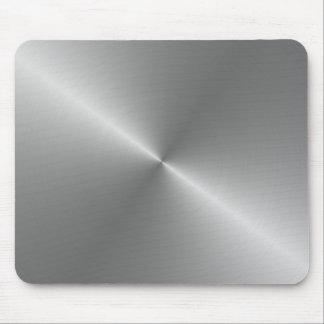 circular brushed steel mouse pad