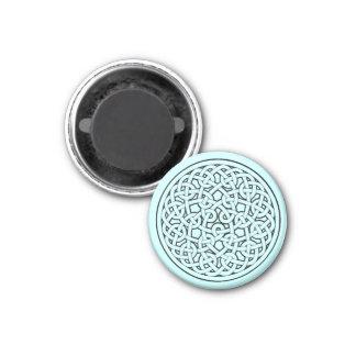Circular Celtic Knot Interconnected Symbolism 3 Cm Round Magnet