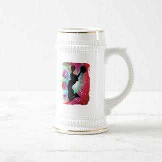 Circular Colorburst with Cheerleader Coffee Mug