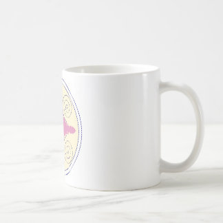 Circular Design Motif Template for Custom Text Coffee Mug