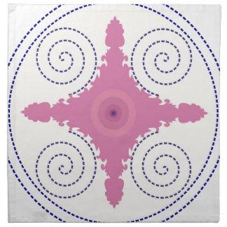 Circular Design Motif Template for Custom Text Napkin