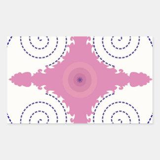 Circular Design Motif Template for Custom Text Rectangular Sticker