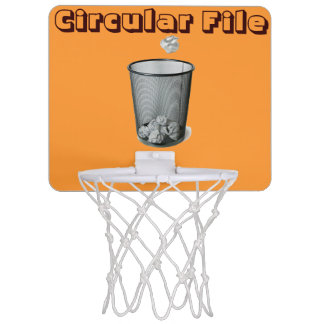Circular File Mini Basketball Hoop