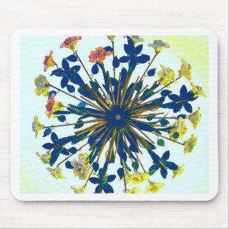 Circular Floral Ceramic Vintage Lighting Mouse Pad
