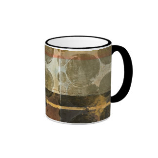 Circular Green Droplets Coffee Mug