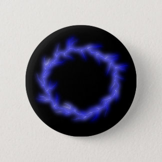 Circular Lightning 6 Cm Round Badge