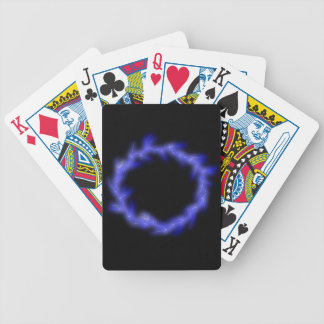 Circular Lightning Bicycle Playing Cards