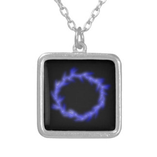 Circular Lightning Silver Plated Necklace