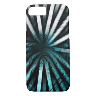 Circular Lines Aqua - Apple iPhone Case