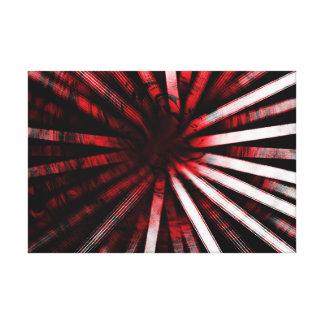 Circular Lines Red - Canvas Print