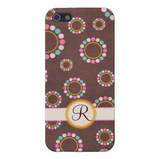 Circular pattern with polka dots Monogram iPhone 5/5S Case